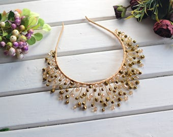 Bridal tiara, Wedding crown, Royal crown, Crystal crown, Gold Crown, Bridal crown, Wedding  diadem, Bridal Headpiece, Hair accessories