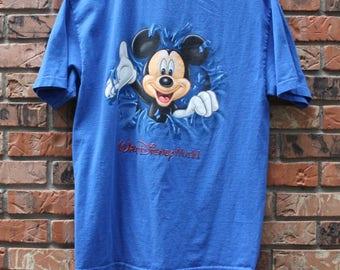 Vintage Mickey Mouse Walt Disney World Rare T-Shirt Men's Sz. Large
