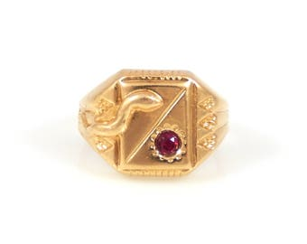 18K Snake & Ruby Baby's Ring - X 4344