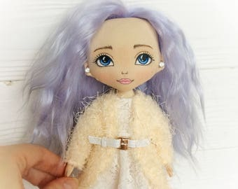 TEXTILE DOLL FABRIC doll Rag doll Cloth doll Handmade doll Handmade Art doll Interior doll Tilda doll Doll Soft doll Baby doll Gift for girl