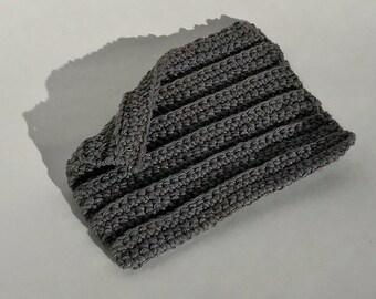 Crochet Dishcloths, Washrag, Dishrag, Grey