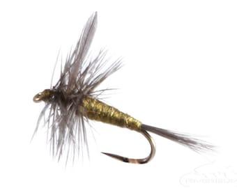 Fishing Flies - 4 Blue Winged Olive (BWO) - Sizes 14, 16, 18, 20