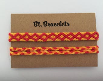 Friendship bracelets straps orange/red 2.00