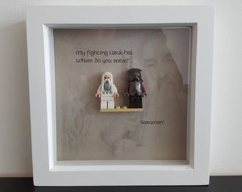 Lego Lord of the Rings Picture Frame with Saruman and Uruk-Hai --Genuine Lego--