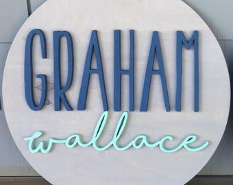 "12"" Diameter Name Sign 