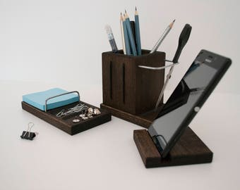 desktop set office accessories business supplies home office supplies stand for iphone