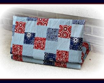 Bandana Patchwork Cotton Nap Mat Cover - Kindermat Cover - Preschool - Daycare - Kindergarten