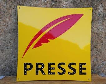 """French shop sign """"PRESSE"""" / Vintage sign"""