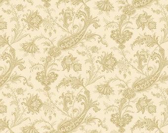 Andover Fabrics - Carlisle - Bone Jacobean by Kathy Hall - 100% Cotton - 15 Yards Available