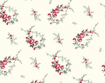 Raspberry and Cream by Marsha McCloskey for Clothworks - Sold by the Yard