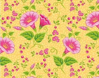 Riley Blake Primavera - Main Tangerine by Patty Young - Sold by the Yard - 100% Cotton