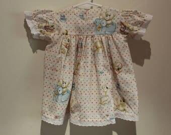 Teddy Bear Spotty Dress