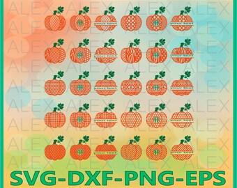 70% OFF, Pumpkin SVG, Pumpkin Monogram Svg, Pumpkin Split Monogram Svg,  Halloween svg, Pumpkin Svg, Dxf,Eps,Png files, Silhouette Cut Files