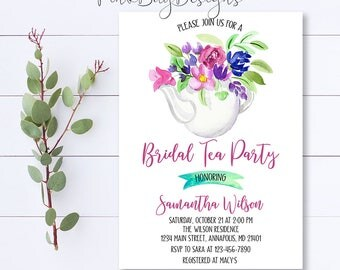 bridal tea party | etsy, Einladung