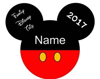 Men's/Boys  Mickey Mouse family vacation shirt