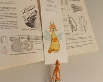 Bookmark with watercolor painting