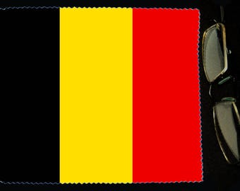 Cloth wipes Belgium flag sunglasses