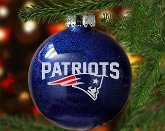 Patriots Christmas Ornament (SHATTER-PROOF, Disc-Shaped)