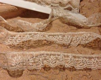 """1"""" Antique White Vintage Lace"""