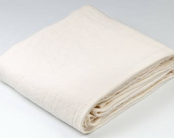 Linen Towel, 100% Linen, Stonewashed White