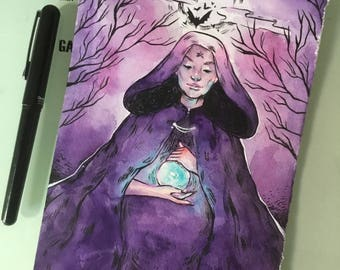 Inktober Day 21 - Cloak | Watercolor&Ink Painting
