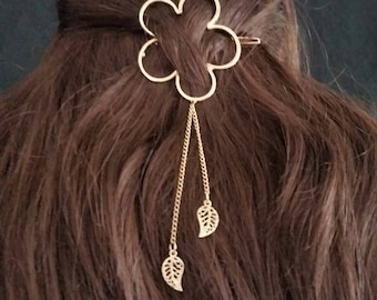 Hair Accessories, Metal Gold Hair Clip, Flower Leaf Barrette for Women girls, Gold Silver Barrette, Moon Star Hair Clip, Girls Hair Clips