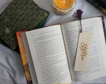 Bookmark- Harry Potter- Slytherin { Reader gift, Bookworm gift, Book lover, Wooden bookmark, Book Club Gift, Laser Engraved Wood Bookmark }