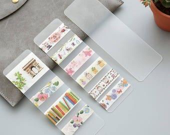 Washi Tape Storage, Bullet Journal Supplies, School Supplies, bookmark, washi tape set, planner accessories, traveller's notebook, storage