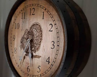 Whiskey Barrel Clock (turkey)