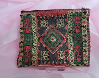 Handmade Ethnic Coin Purse. Gold Red Green Black FREE UK POSTAGE