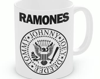 Ramones Mug, Johnny, Joey, Deedee, Tommy (M223)