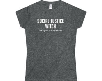Social Justice Witch WomenS Softstyle Tee Dungeons And Dragons Dnd Rpgs Sjw