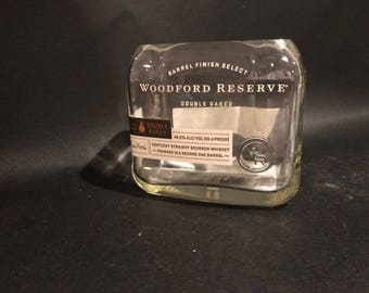 Woodford Reserve Double Oaked Bourbon Whiskey Bottle  Soy Candle. 750ML 21oz. Made To Order !!!!!!!