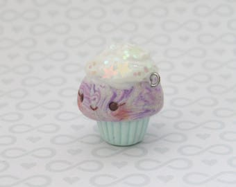 Kawaii Glitter Pastel Cupcake Charm