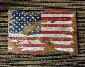 Rustic Wave Flag Board