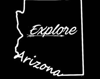Arizona Explore Vinyl Decal