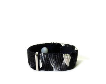 Anxiety/Stress Relief H7 Bracelet (Acupressure Point Therapy) B/W