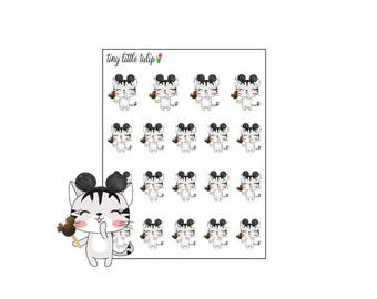 Planner Stickers Cat with Mouse Ears