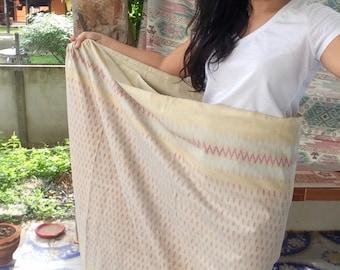 Old Thai silk handmade mustard fabric
