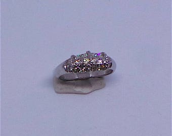 Pretty  Diamond Engagement ring in 14 carat white gold