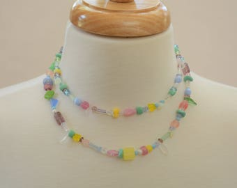 Spring 2-Strand Glass Bead Necklace