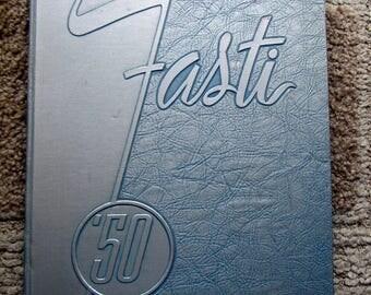 1950 Fasti Yearbook, Chaffey High School, Ontario, California