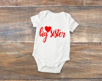 big/sister/little/outfit/bodysuit/matching/gift/shower/heart/