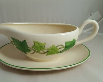 Franciscan Ivy Gravy or Sauceboat w/ Attached Underplate