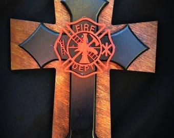 Firefighters cross