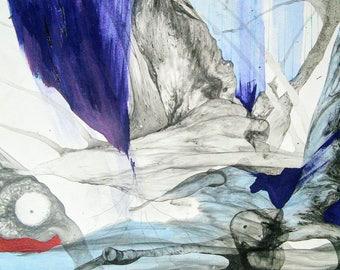 "Original Abstract Art ""Intangible Leek"""