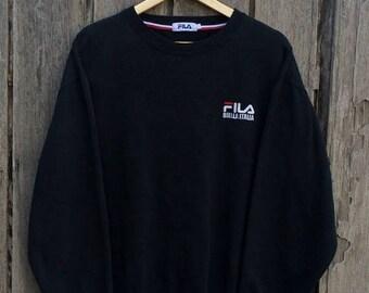 Clearance Sale 30% Vintage fila spell out big logo sweatshirtFila big logo / Hip Hop/fila biela-italia