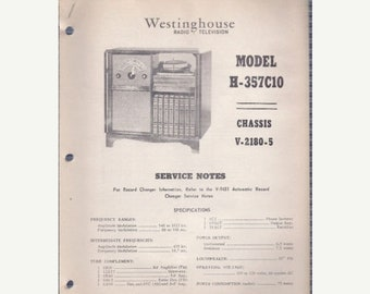 Tech-Lit Westinghouse Radio Service Manual - H-357C10