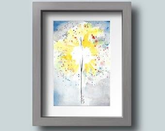 Watercolor Sparkler