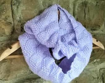 Levendula Cowl Infinity Scarf Knitting Pattern